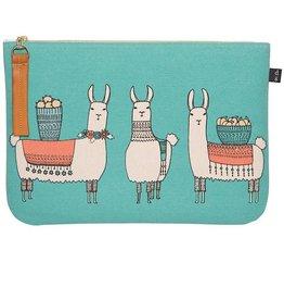Now Designs Folio or Cosmetic Bag Llamarama Lama