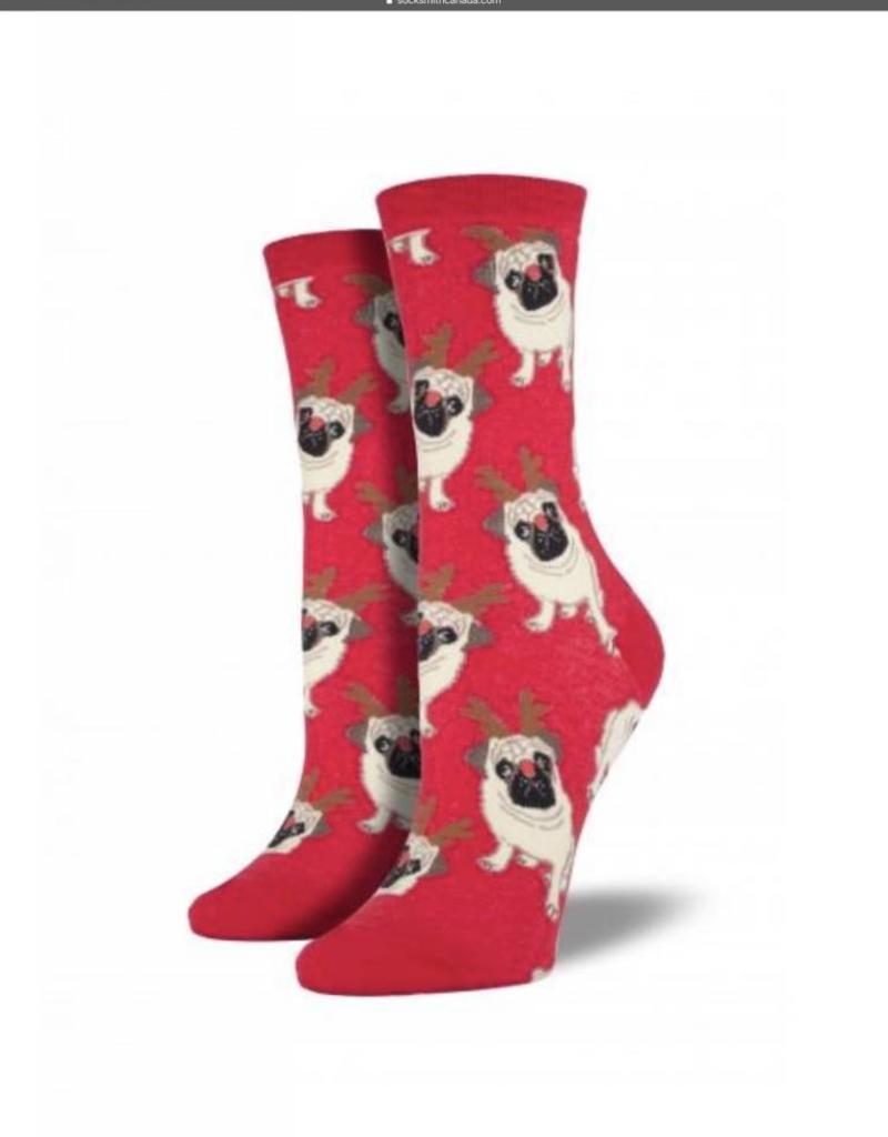 Socks Antler Pug