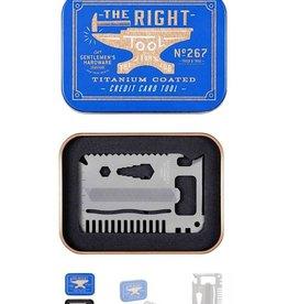 Credit Card Tool Titanium Finish