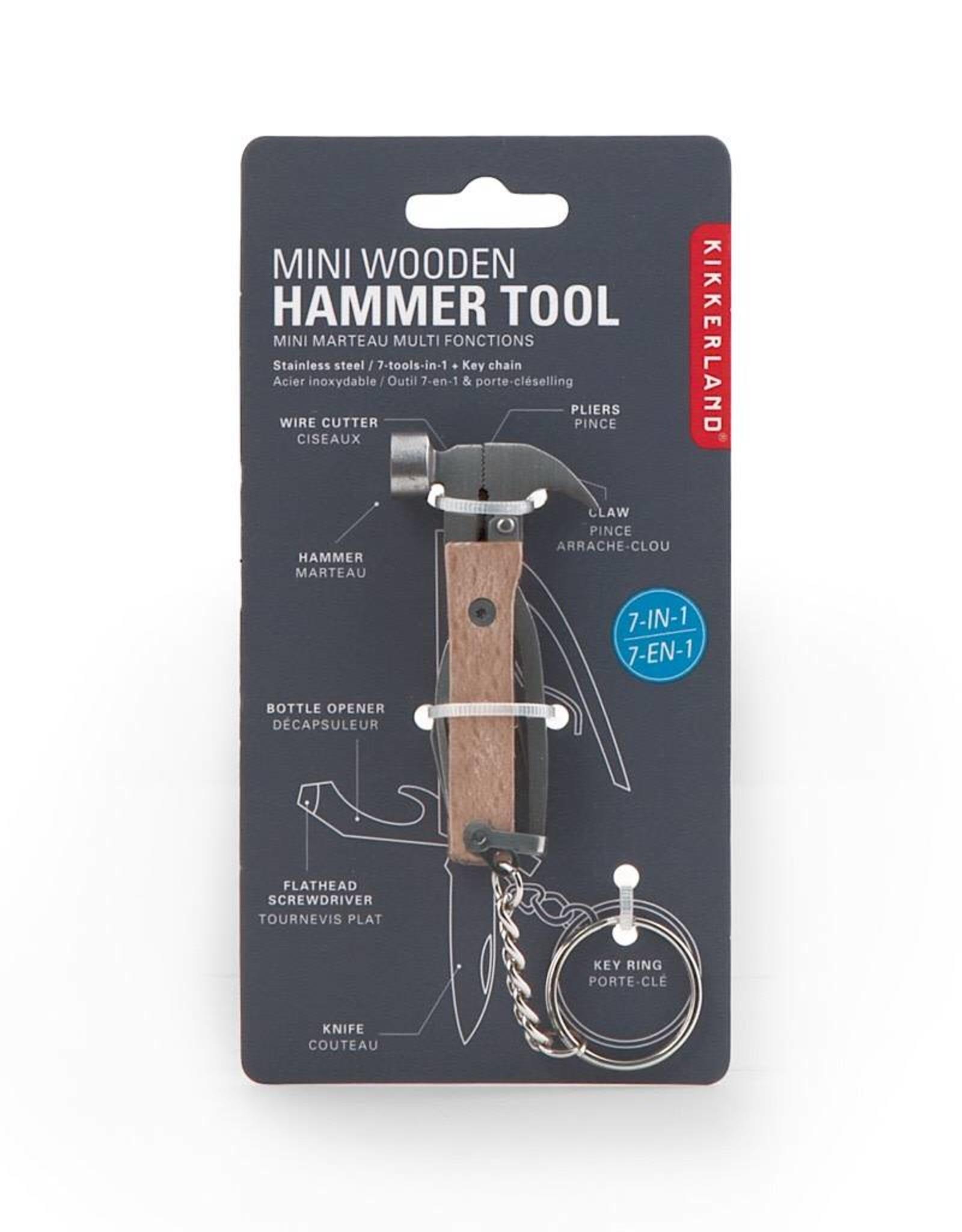 Kikkerland KR13-W Mini Wooden Hammer Tool Keychain