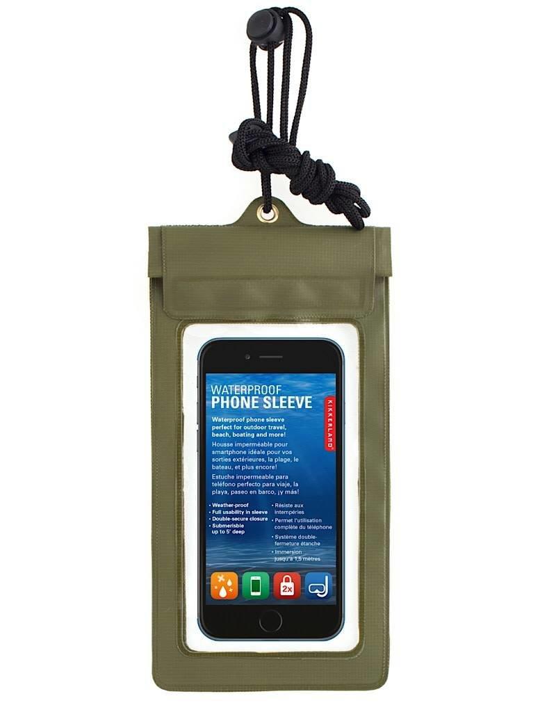 Kikkerland Kikkerland CD108-G Waterproof Phone Sleeve Green