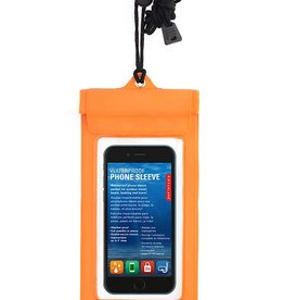 Kikkerland Waterproof Phone Sleeve Orange