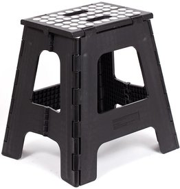 Kikkerland Step Stool Folding Tall Black