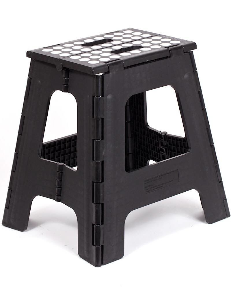 Wondrous Kikkerland Kikkerland Step Stool Folding Tall Black Gmtry Best Dining Table And Chair Ideas Images Gmtryco