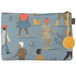 Now Designs Small Linen Cosmetic Bag People Person