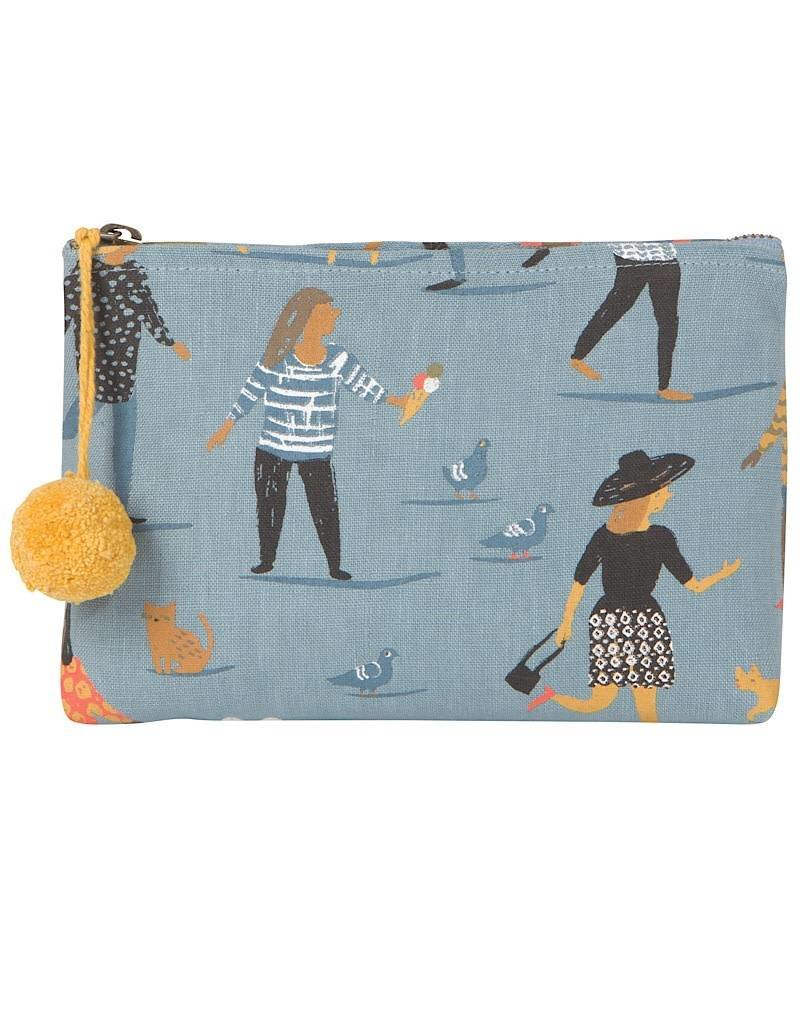 Now Designs 7001842 Small Cosmetic Linen Bag People Person