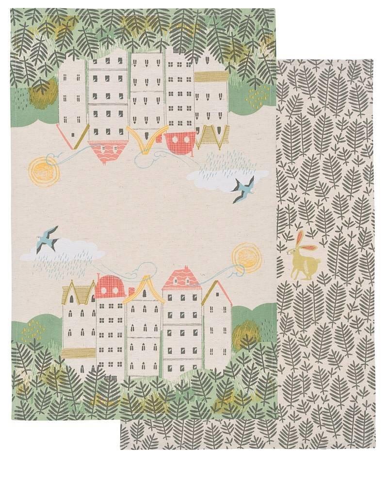 Now Designs 7001680 Tea Towel 2 Hill & Dale