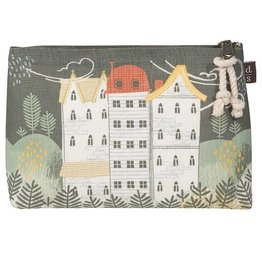 Now Designs Small Linen Cosmetic Bag Hill & Dale