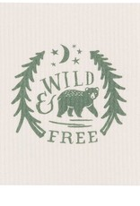 Now Designs 2102044 Swedish Dishcloth Wild & Free