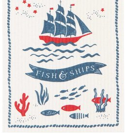 Now Designs Swedish Dishcloth Fish & Ships