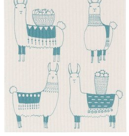 Now Designs Swedish Dishcloth Llamarama Llama