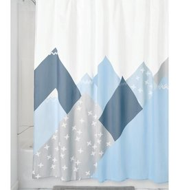 75160 Shower Curtain Mountain SC Blue