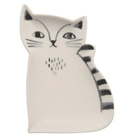 Now Designs Trinket Tray Ceramic Cat