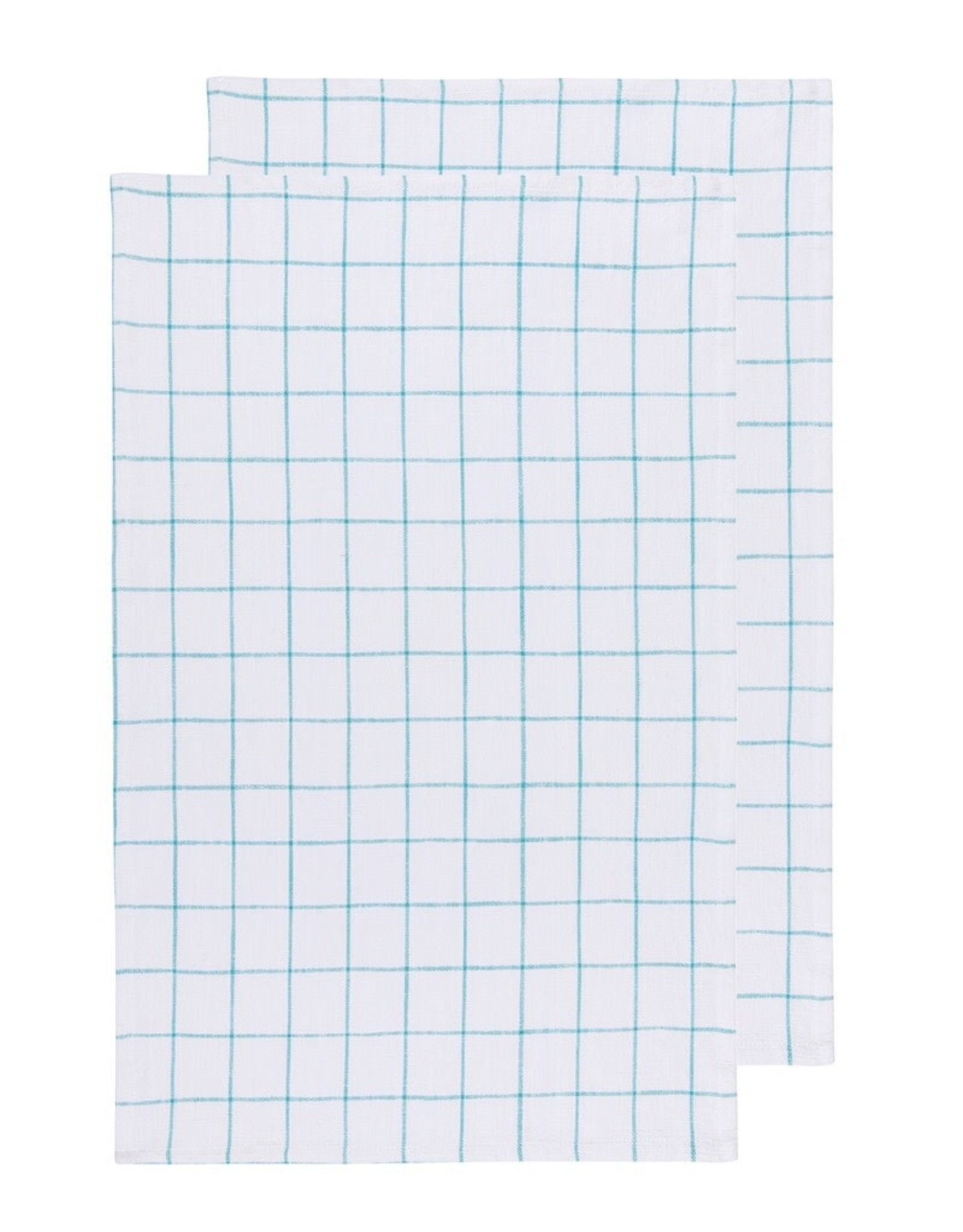 Now Designs 2245004 Vintage Wash Turquoise Tea Towel Set Of 2