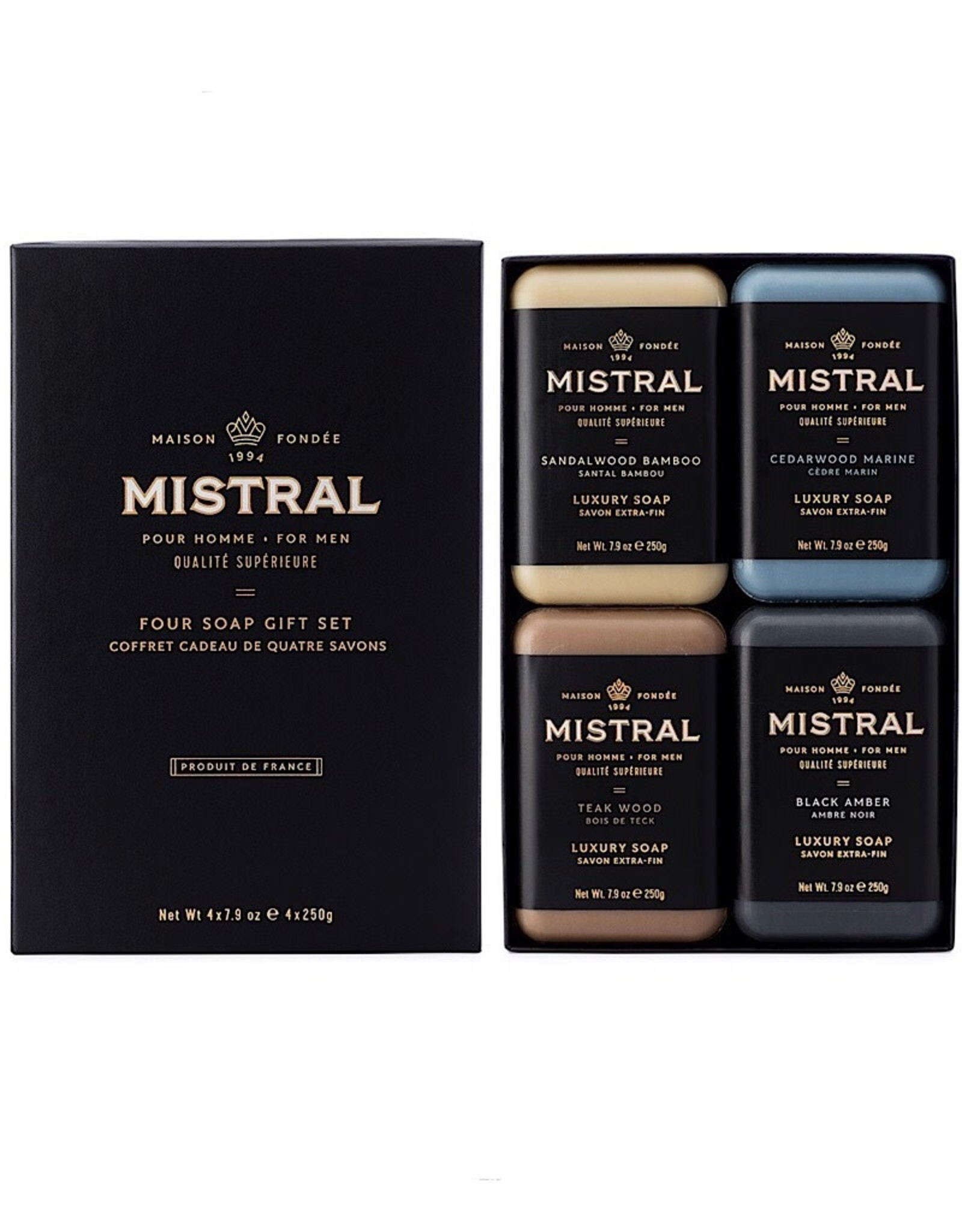 Mistral Mens 4 soap gift set