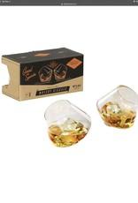 AGEN144 Rocking Whisky Glasses Set of 2