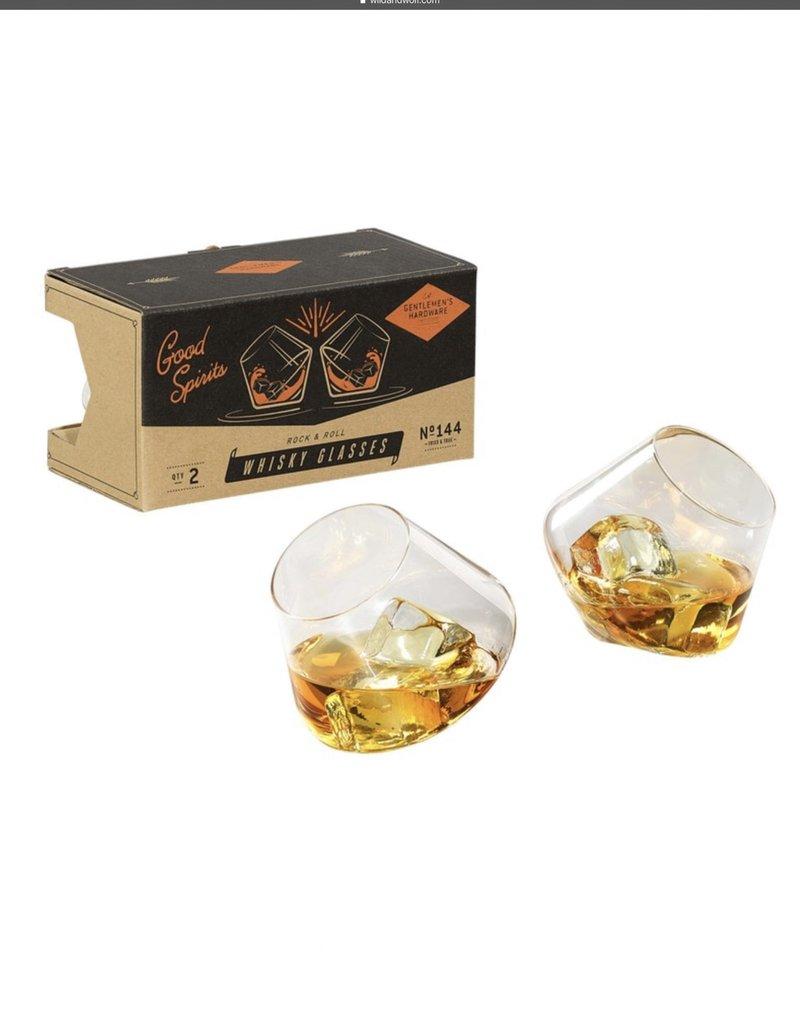 GEN144 Rocking Whisky Glasses Set of 2