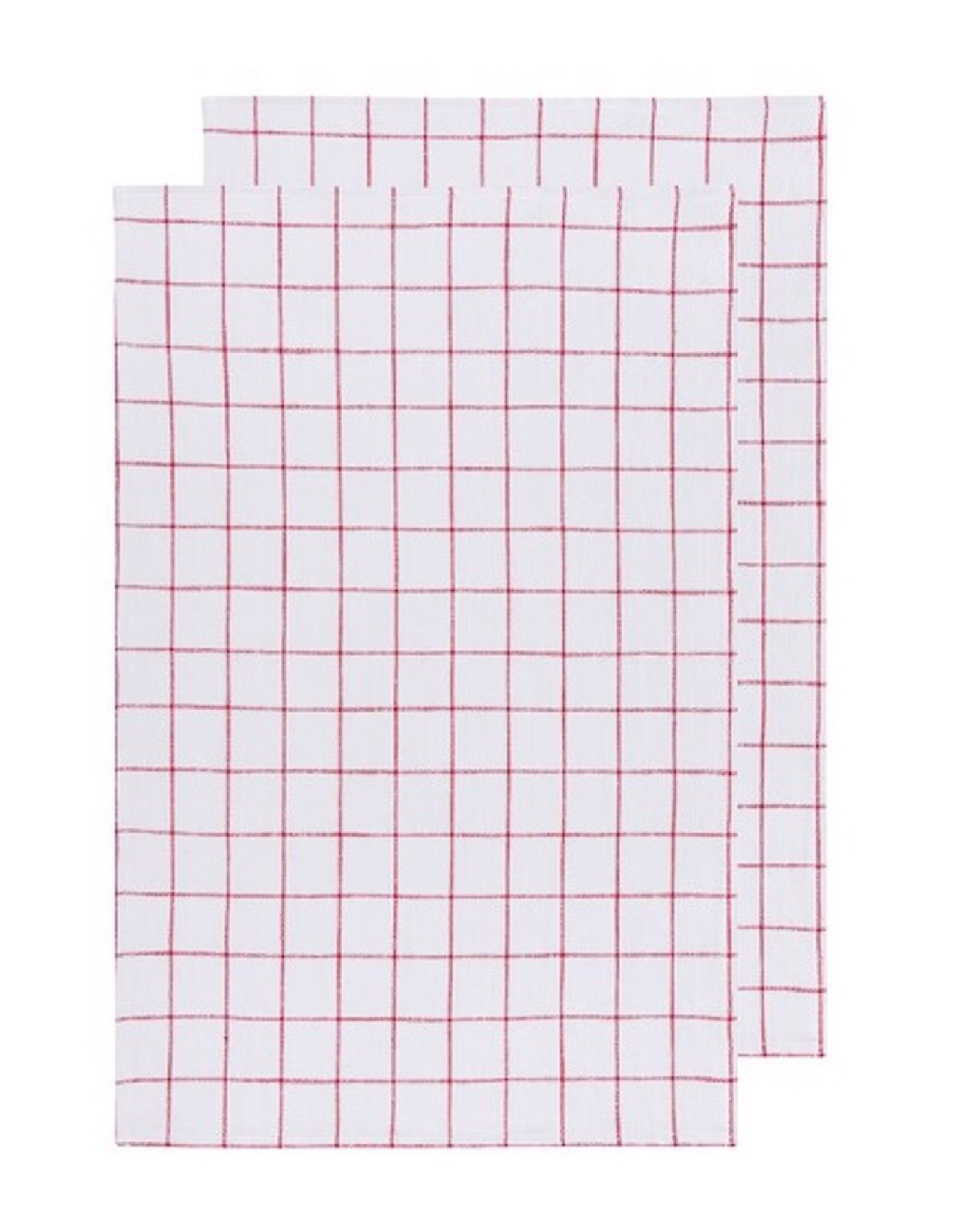 Now Designs 2245001 Vintage Wash Poppy Tea Towel Set Of 2