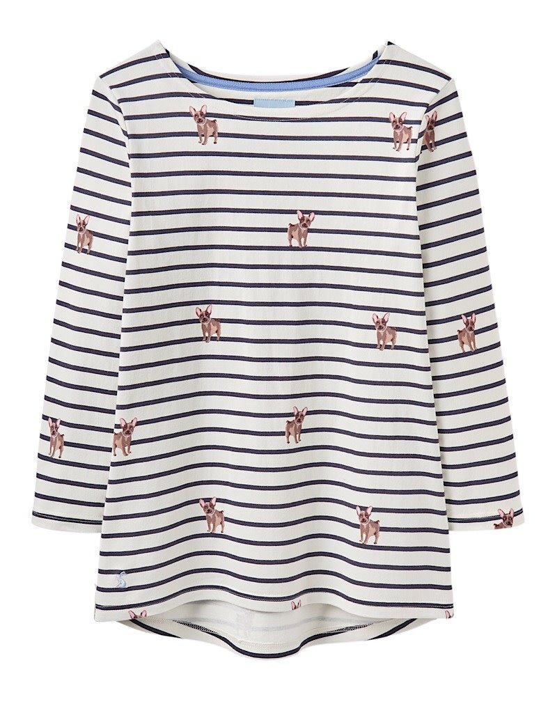 Joules Joules Harbour Print Cream Dog Stripe Spring 2019