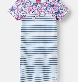 Joules Joules Riviera Print Blue Floral Stripe Spring 2019