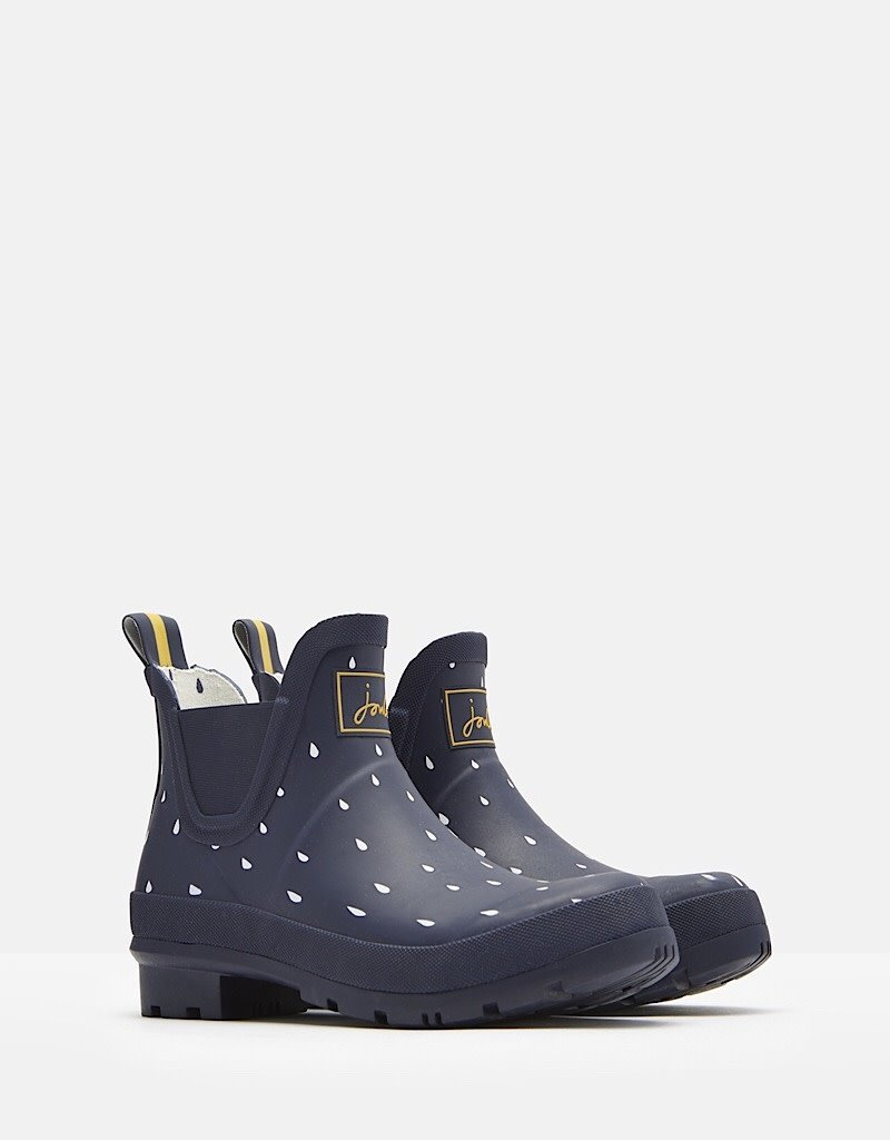 Joules Joules Wellibob Navy Raindrops