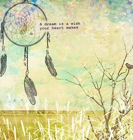 Cedar Mountain Small Art Block Dream Catcher