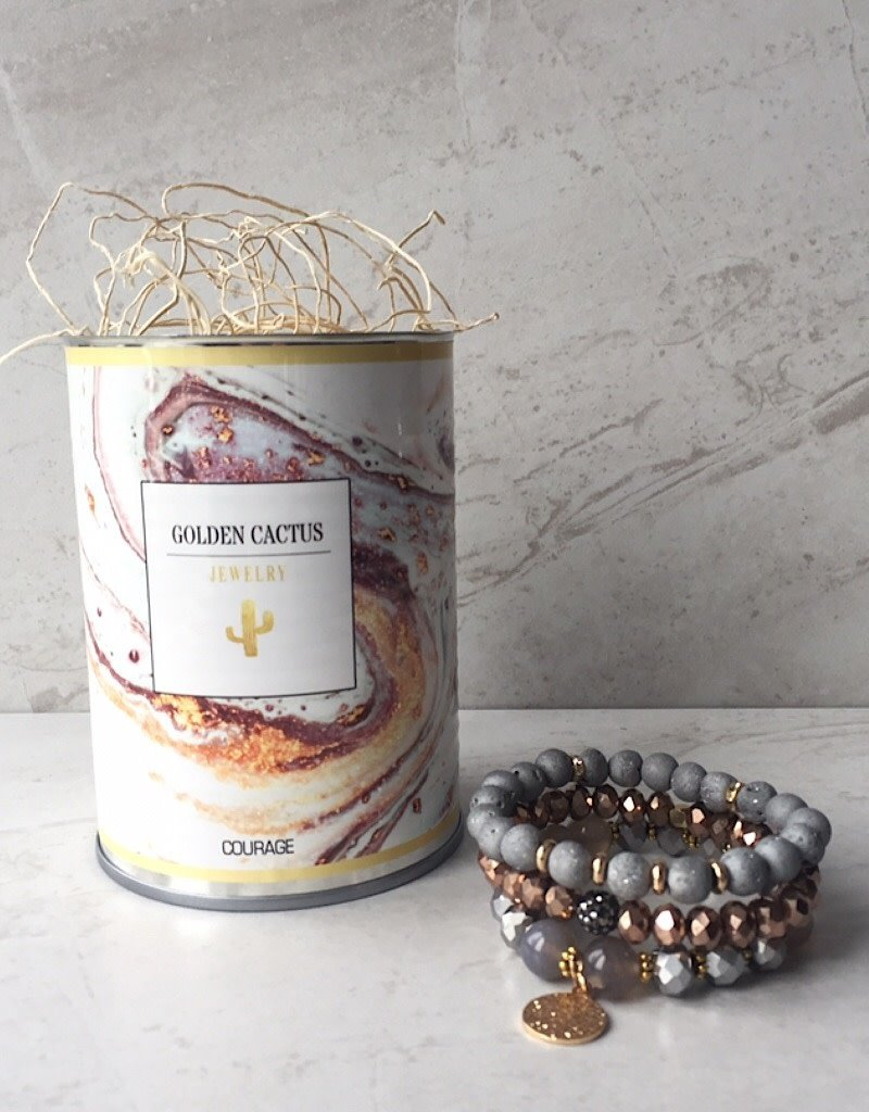 Courage bracelet in a can