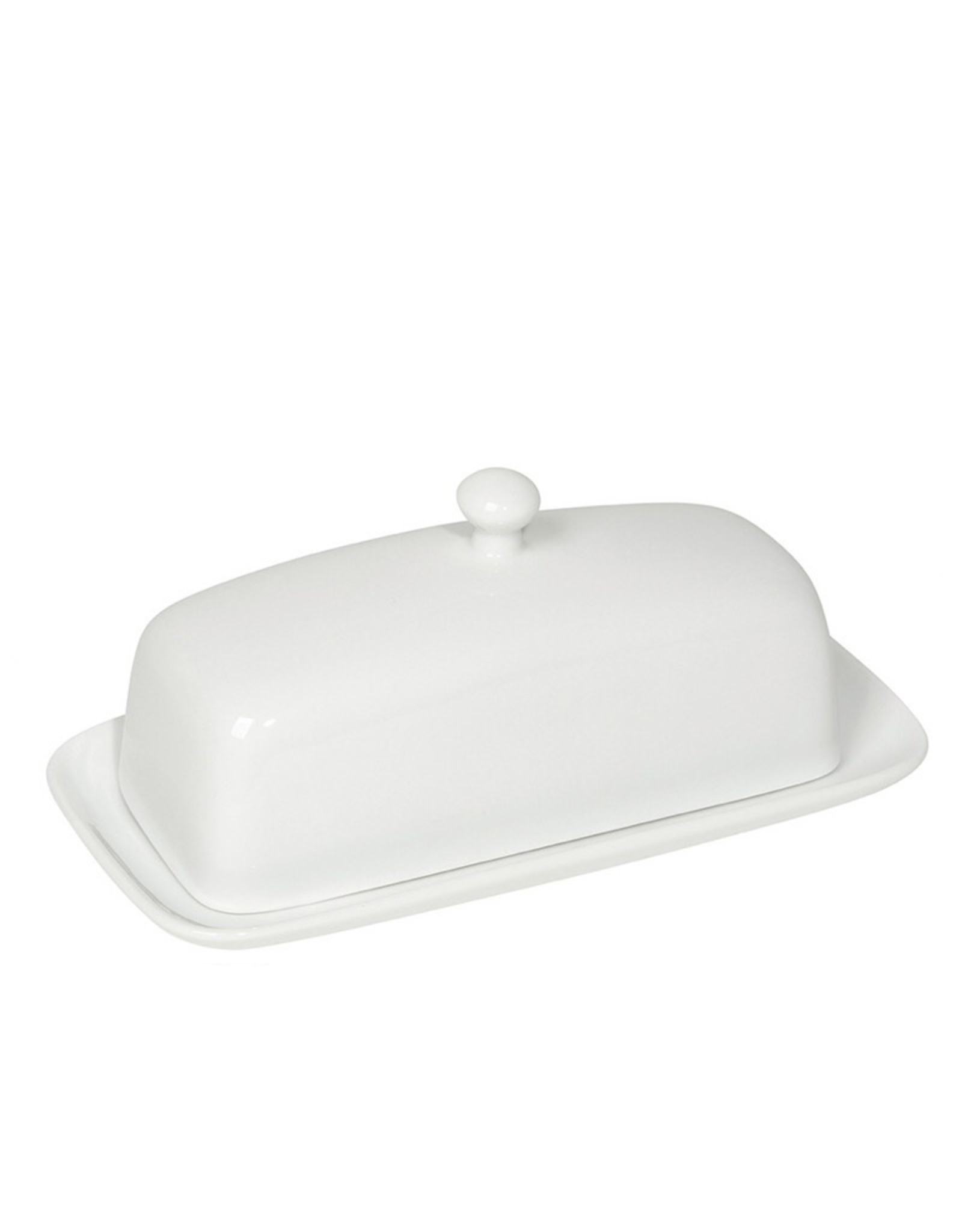 Now Designs 5037001 Stoneware White Butter Dish