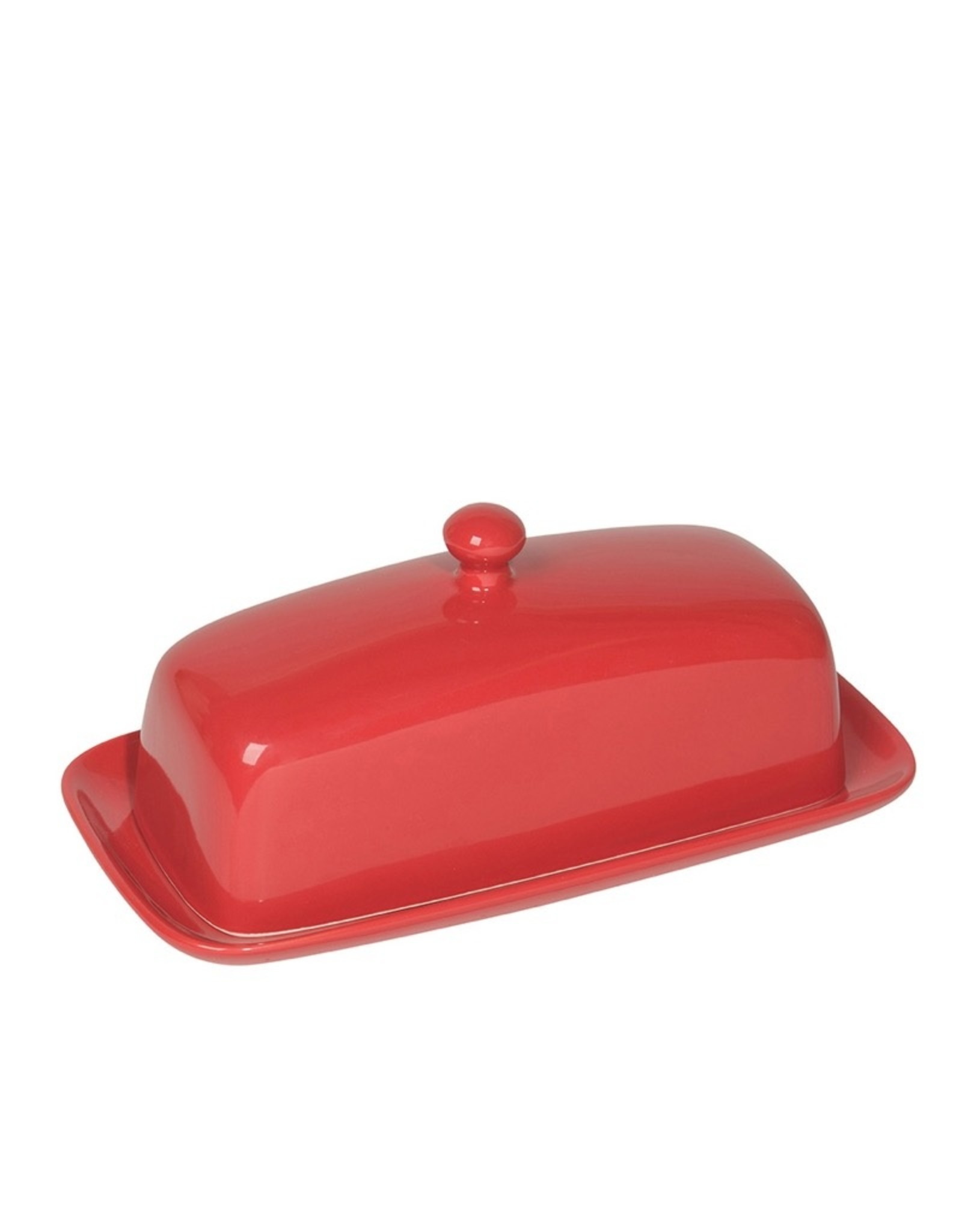 Now Designs 5037003 Stoneware Red Butter Dish