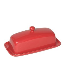 Now Designs Stoneware Red Butter Dish