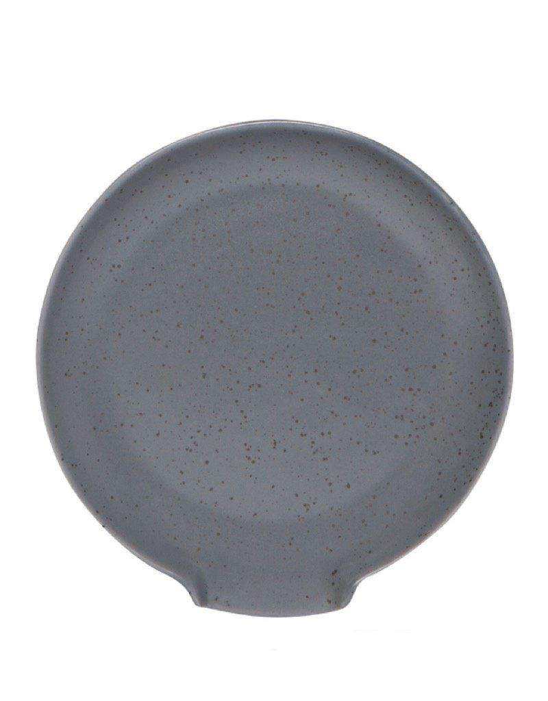 Now Designs L420006 Spoon Rest Reactive Gray