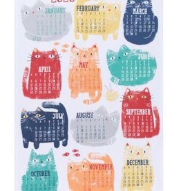 Now Designs A Purrfect Year Calendar 2020 dishtowel