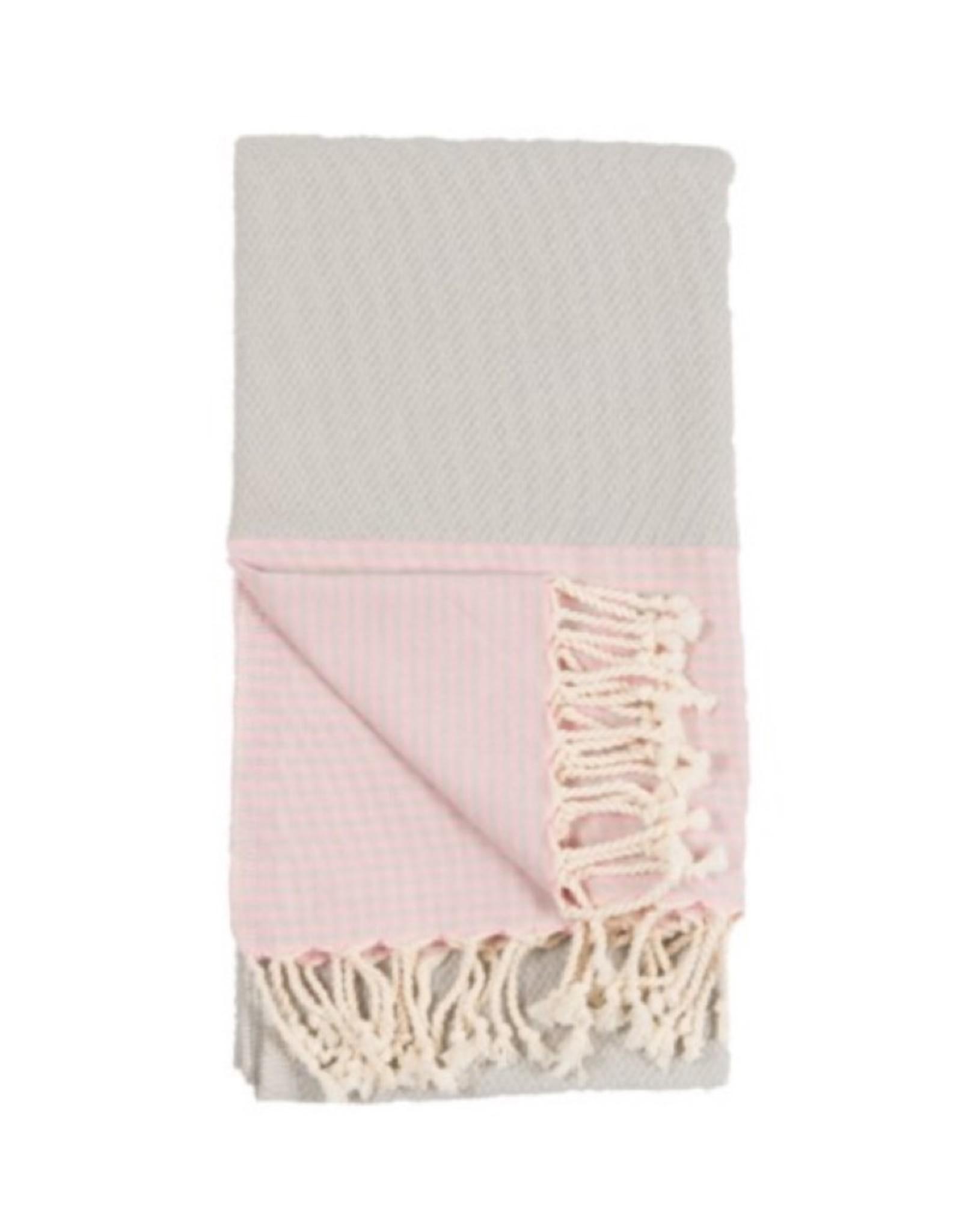 TTP7 Turkish Towel Patek Grey Pink