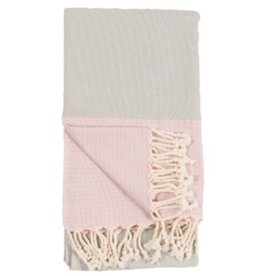 Turkish Towel Patek Grey Pink