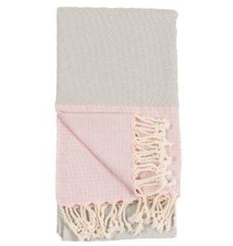 Turkish Towel Patek Grey Pink
