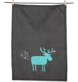 Farty Moose Tea Towel