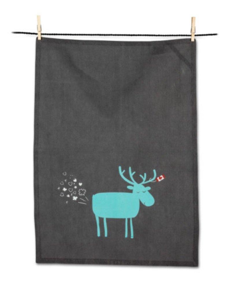 56-KT-WT-08 Farty Moose Tea Towel