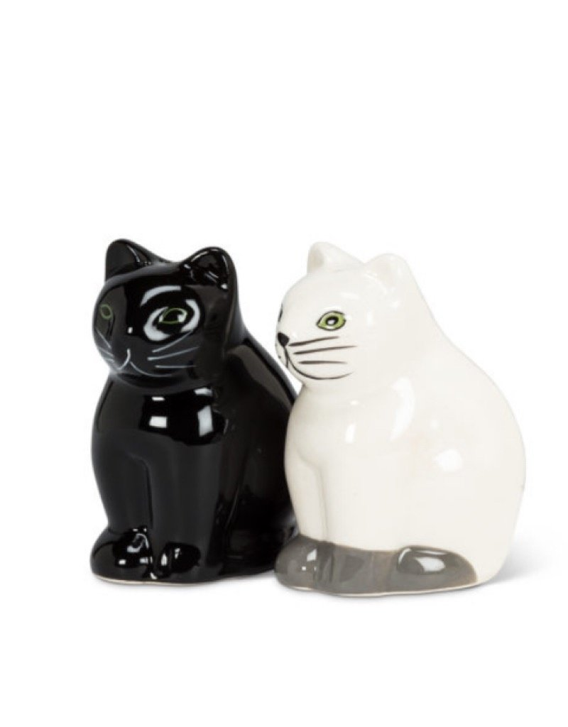 27-feline Salt / Pepper Cats Black & White