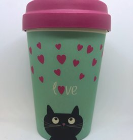 Bamboo Cup Kitty Love