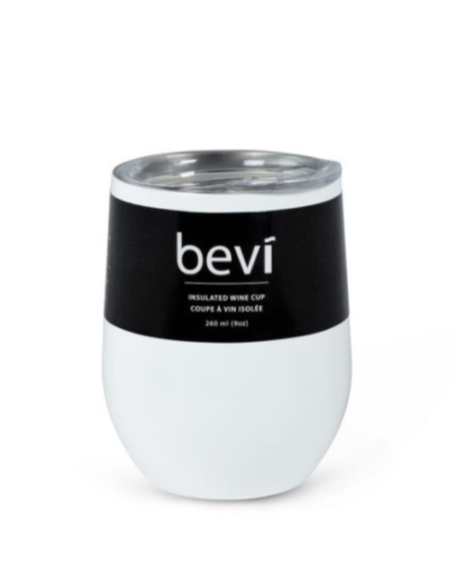 27-BEVI-SG-WHT White Insulated Wine Tumbler 12oz