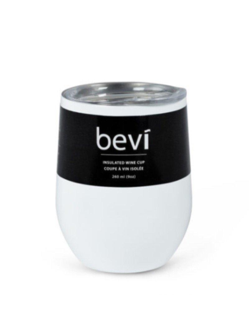 27-BEVI-SG-WHT White Insulated Wine Tumbler 12oz