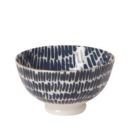 "Now Designs Bowl Stamped 4"" Shibori Dash"