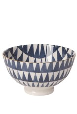"Now Designs 5042019 Bowl Stamped 4"" Shibori Triangles"
