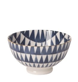 "Now Designs Bowl Stamped 4"" Shibori Triangles"