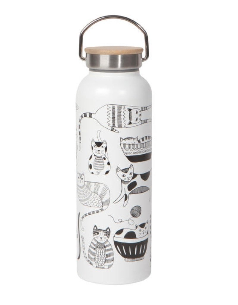 Now Designs 5122006 Roam Water Bottle Purr Party