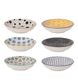 Now Designs Pinch Bowl Set 6 Assorted Bits & Dots