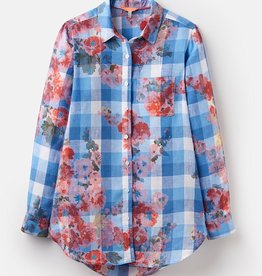 Joules Joules Jeanne Print Blue Gingham Floral Spring 2019
