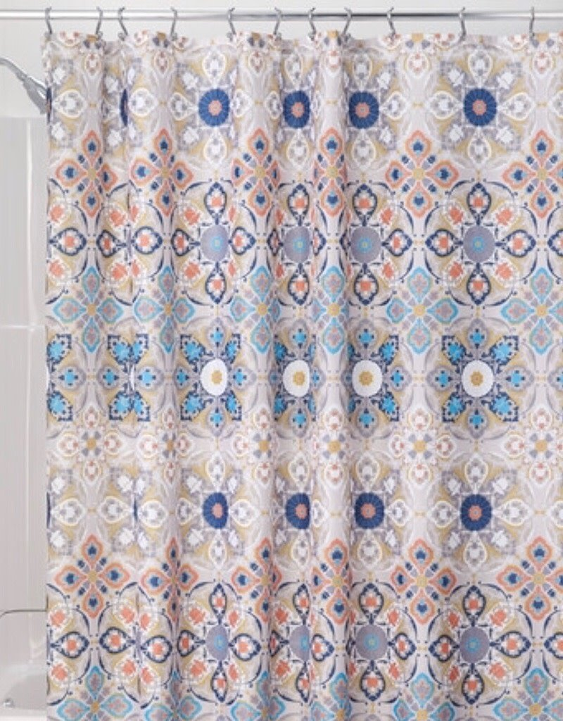 65520 Shower Curtain Henna Medaillon