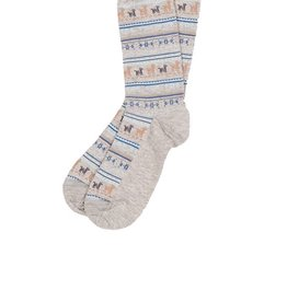 Alpaca Print Socks Grey Small Medium