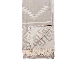 TTGE4 Turkish Towel Geometric Pebble Grey